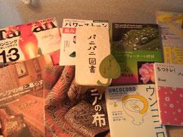 PaniPaniパニパニ図書のようす。高知とバリの本を増やしたいです。