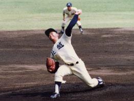 高校時代、野球で汗を流していた藤崎