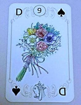9 花束のカード