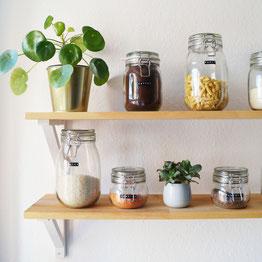 Küchenregal selber bauen  Günstige Küchenregale selber bauen - MIM MEETS MINIMALISM