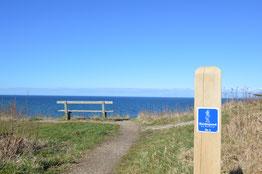 Meerblick auf dem neuen Kierkegaard-Wanderweg. Foto: Kierkegaard by Nature