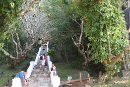 Treppe, Mount Phousi, Luang Prabang