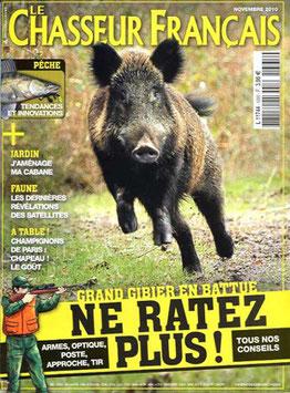 Couverture d'un numéro du Chasseur Français avec un sanglier en gros plani