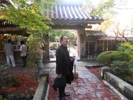宝泉院を訪れた松井画伯