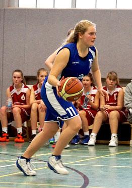 Mona Lorenzen wurde mit 10 Punkten Topscorerin ihrer Mannschaft. (Foto: Fromme)