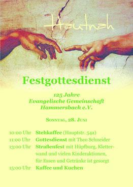 Hüpfburg, Kletterwand, Jubiläum, Hammersbach, 125 Jahre, Gemeinschaft, evangelisch, Theo Schneider, Festgottesdienst, Straßenfest, Kinder, Erwachsene