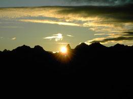 Sonnenaufgang in den Kleinwalsertaler Bergen