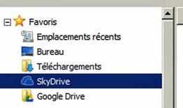 Dossier SkyDrive sur son ordinateur