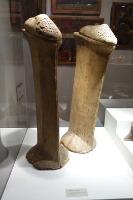 Venetian-made CHOPINES, 15th - 16th century, Museo Correr, Venice. picture by Nina Möller - Renaissance footwear shoes fashion