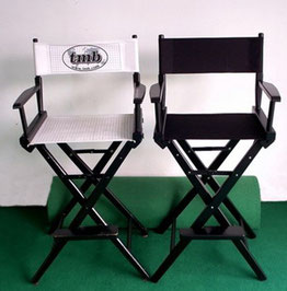 116cm Custom Printed Upright Directors Chairs