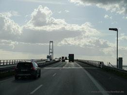 Heftiger Wind auf der Öresundbrücke