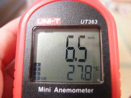 風速計 扇風機 強風 6.5m/s