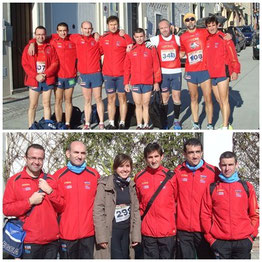Arriba atletas CLub Maratón Lucena, participantes en la I Batalla de Munda, y abajo junto a nuestra amiga Fátima, corredora lucentina, que quedo tercera en su categoría. PINCHA MÁS FOTOS.