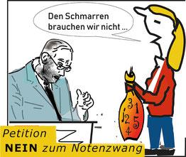 "Petition: ""NEIN zum Notenzwang""  Bild:spagra"