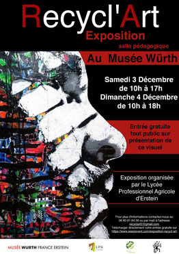 Affiche exposition Recycl'Art 2016