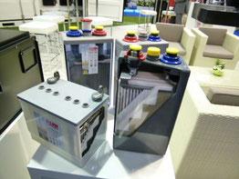 Akku Batterie Solar Beispiel mit Blei Säure oder Blei Gel Foto Solarstrom Simon