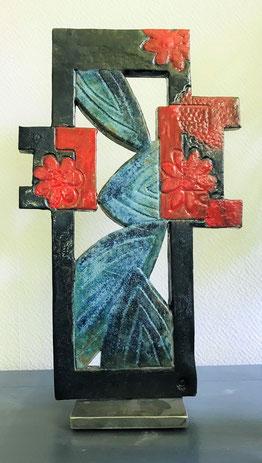 Tableau de Fleurs (H36.5 cm x 21 cm)