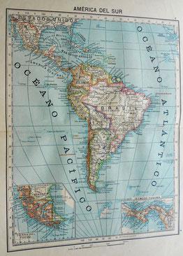 Mapa de América del Sur 1903