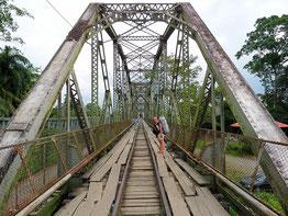 Grenzbrücke zwischen Costa Rica und Panama