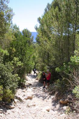 Bild: Wanderung von der  Calanque Port Pin zur Calanque d´en Vau.