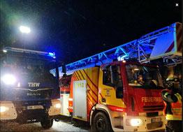 THW OV Witzenhausen und Feuerwehr Witzenhausen gemeinsam im Einsatz.