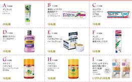 生活雑貨懸賞-歯磨き粉などプレゼント