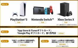 日本ゲーム大賞-プレステやスイッチなどプレゼント