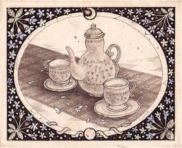 jasmine腐蝕銅版画 インク/ヨシ紙 8×10cm