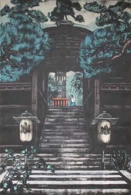 くらまやま(二)91x61cm リトグラフ・水性木版