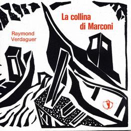 piatto frontale della copertina con stampa tipografica in rosso e xilografia originale