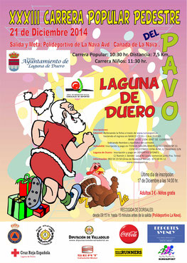 XXXIII CARRERA POPULAR DEL PAVO - Laguna de Duero, 21-12-2014