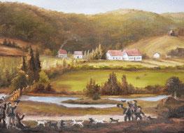 Historische Darstellung des Alten Forstamtes im Teutoburger Wald