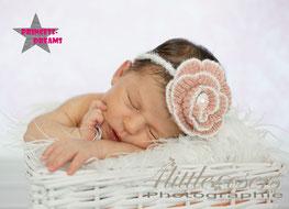 Neugeborenen Baby Mädchen Mohair Strick Set Outfit Haarband Haarbänder Taufe Hochzeit Fotoshooting Baybshooting Geburtstag