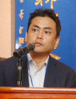 協同組合の新監事、咲寿義輝氏(ダニエル)