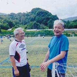 常に前向きなご指導、寺嶋先生(右)