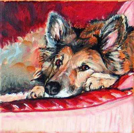 Portrait Gemälde vom Foto