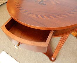 ランプテーブル サイドテーブル イタリア製 ITALEXPORT 木象嵌 引き出し イタッレポート お買い得 ビーチ無垢材 スタイル家具 クラシック家具 アンティーク家具