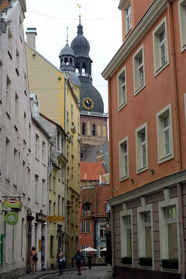Riga, Altstadt mit Blick auf den Dom