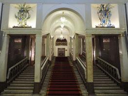 Treppenaufgang zum Zuschauerraum