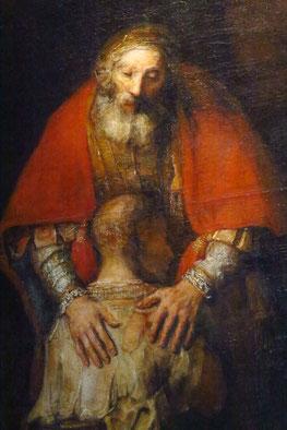 Die Rückkehr des verlorenen Sohnes (nach dem Gleichnis aus dem Lukas-Evangelium), Öl auf Leinwand, 260 × 203 cm, um 1669, (Ausschnitt)