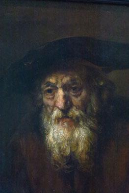 Der alte Jude, Öl auf Leinwand, 1654, (Ausschnitt). Rembrandt malte Juden nicht als Karikaturen, sondern als Menschen.