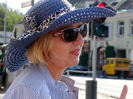 Unsere Reiseleiterin in Vilnius (Foto: M. Erb)