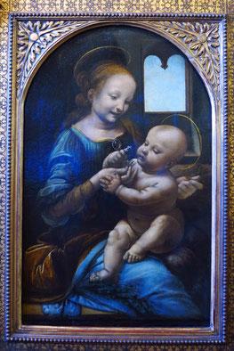 Leonardo da Vinci - Madonna mit der Blume, Öl auf Leinwand, 1478