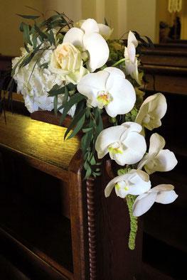Orchideenschmuck für eine Hochzeit