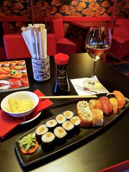 Zum Abendessen im Sushi & Wein, Dresden-Altstadt