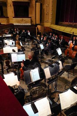 Blick in den Orchestergraben