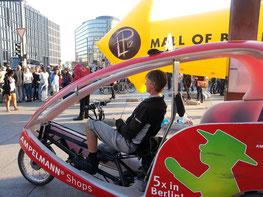 Fahrrad-Rikscha am Potsdamer Platz