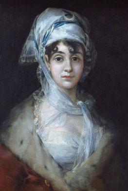 Francisco des Goya - Porträt der Schauspielerin Antonia Zarate, 52 x 64 cm, 1810. (Ausschnitt)