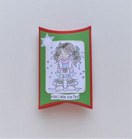 Pillowbox mit Stempelmotiv Weihnachten
