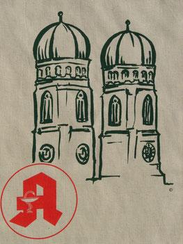 """Künstler-Edition """"Frauenkirche München"""" Front"""